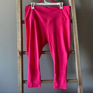 Bright Pink Active Life Leggings with Mesh Calves